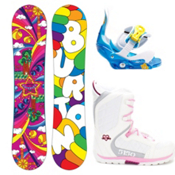Burton Chicklet Girls Complete Snowboard Package 2013, 120cm, medium