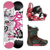 Ride Blush Girls Complete Snowboard Package 2013, 110cm, medium