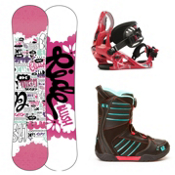 Ride Blush Girls Complete Snowboard Package 2013, 120cm, medium