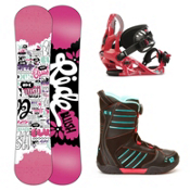 Ride Blush Girls Complete Snowboard Package 2013, 130cm, medium