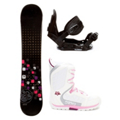 Swivel Sparkle Black Girls Complete Snowboard Package, , medium