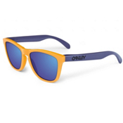 Oakley Frogskin Aquatique Sunglasses, Drop Off-Blue Iridium, medium