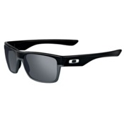 Oakley TwoFace Sunglasses, Polished Black-Black Iridium, medium