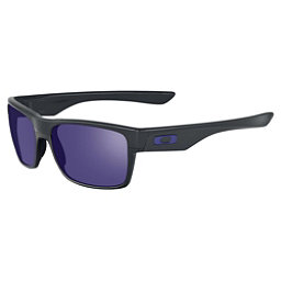 Oakley TwoFace Sunglasses, Matte Black-Violet Iridium, 256
