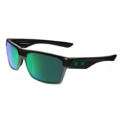 Oakley TwoFace Sunglasses, Polished Black-Jade Iridium, medium