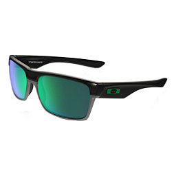 Oakley TwoFace Sunglasses, Polished Black-Jade Iridium, 256