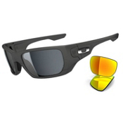 Oakley Polarized Style Switch Sunglasses, Matte Dark Grey, medium