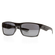 Oakley Polarized TwoFace Sunglasses, Polished Black-Black Iridium Polarized, medium