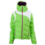 Spyder Aphrodite Womens Insulated Ski Jacket, Green Flash-White-Gypsy, medium