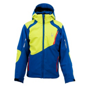 Spyder Speed Boys Ski Jacket, Just Blue-Sharp Lime-Volcano, medium