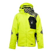 Spyder Cosmos Boys Ski Jacket, Sharp Lime-Black-Lime Mosaic, medium