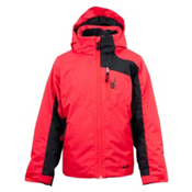 Spyder Defender Boys Ski Jacket, Red-Black, medium