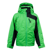 Spyder Defender Boys Ski Jacket, Classic Green, medium