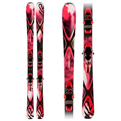 K2 Superburnin 74 Womens Skis with K2/Marker ERC 11 Bindings, , large