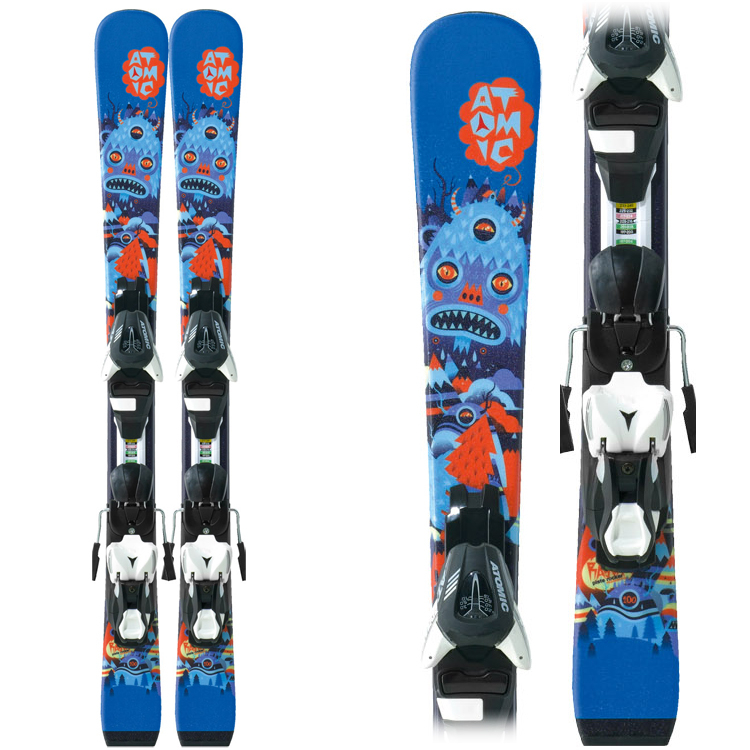Atomic Rascal II Kids Skis with XTE 045 Bindings 2013