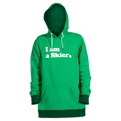 Line I Am A Skier Mens Hoodie, Kelly Green, medium