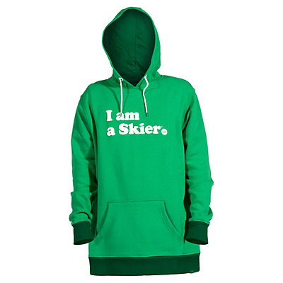 Line I Am A Skier Mens Hoodie, Kelly Green, viewer