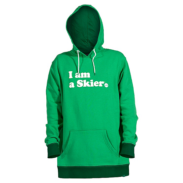 Line I Am A Skier Mens Hoodie, Kelly Green, 600