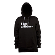 Line I Am A Skier Hoodie, Black, medium