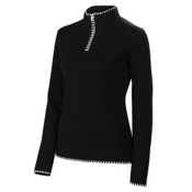 Neve Designs Annabelle Zip Neck Sweater Womens Sweater, Black, medium