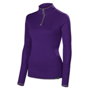 Neve Designs Annabelle Zip Neck Sweater Womens Sweater, Plum, medium