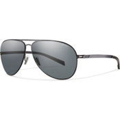 Smith Ridgeway Polarized Sunglasses, Gunmetal, medium