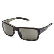 Smith Outlier Polarized Sunglasses, Black-Polarized Gray Green, medium