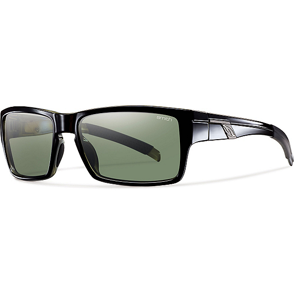 Smith Mastermind Polarized Sunglasses, Black-Polarized Gray Green, 600