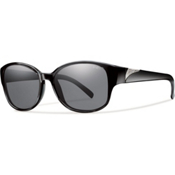 Smith Lyric Polarized Womens Sunglasses, Black, medium
