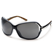 SunCloud Symphony Sunglasses, Black Backpaint-Gray Polarized, medium