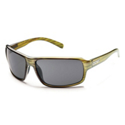 SunCloud Tailgate Sunglasses, Green Stripe-Gray Polarized, medium