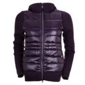 Neve Designs Paige Knit Down Jacket Womens Jacket, Eggplant, medium