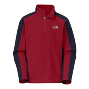 The North Face Glacier 1/4 Zip Kids Midlayer, Biking Red, medium
