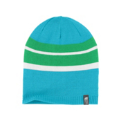 The North Face Reversible Leavenworth Girls Hat, Turquoise Blue, medium