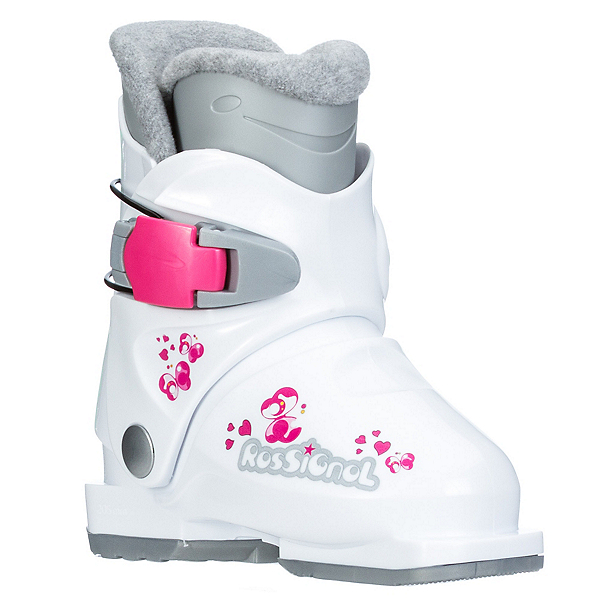 Rossignol R18 Girls Ski Boots, White, 600