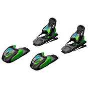 Marker 7.0 Free Junior Ski Bindings, Black-Green-Blue, medium