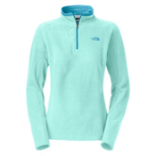 The North Face Glacier 1/4 Zip Womens Mid Layer, Frosty Blue, medium
