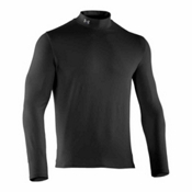 Under Armour EVO CG Infrared Mock Mens Long Underwear Top, Black, medium