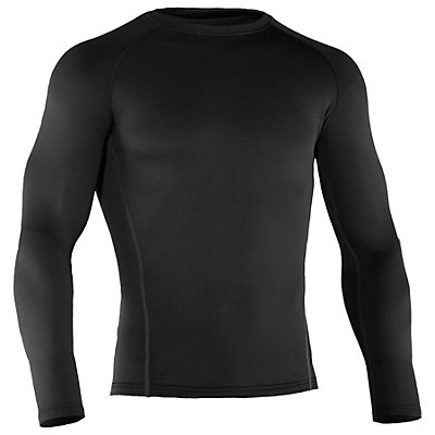 Under Armour Base 2.0 Crew Mens Long Underwear Top, Black, viewer