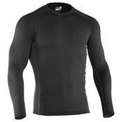Under Armour Base 4.0 Crew Mens Long Underwear Top, Black, medium