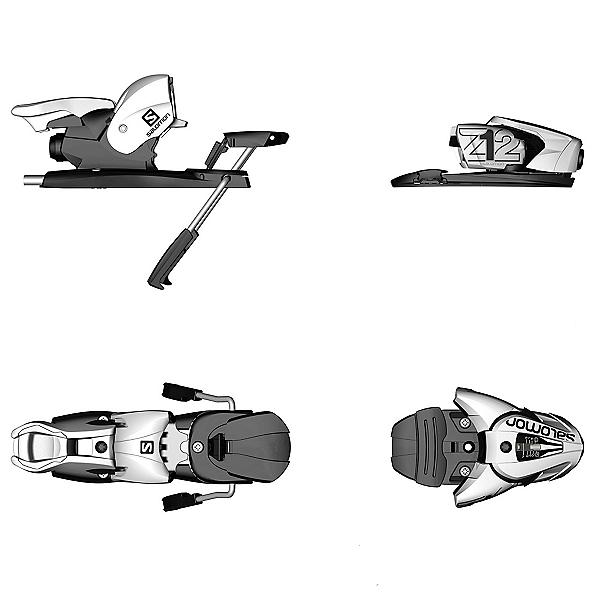 Salomon Z12 Ski Bindings, White-Black, 600