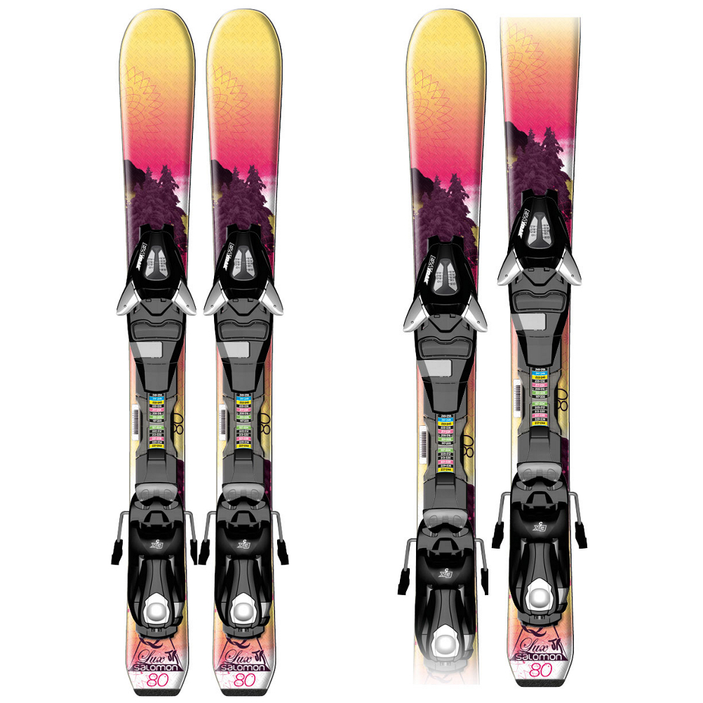 Salomon Quest-Lux XS Kids Skis with C5 Bindings