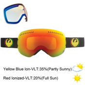 Dragon APXs Goggles, Rasta-Red Ion+yellow Blue, medium