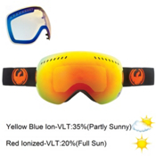 Dragon APXs Goggles, Jet-Red Ion+yellow Blue, medium