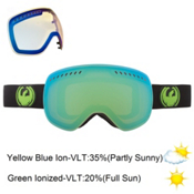 Dragon APXs Goggles, Jet-Green Ion+yellow Blue, medium