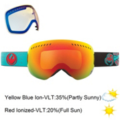 Dragon APXs Goggles, Pirates-Red Ion+yellow Blue, medium