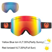 Dragon NFX Goggles, Jet-Red Ion+yellow Blue, medium