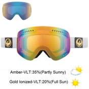 Dragon NFX Goggles, White-Gold Ion+amber, medium