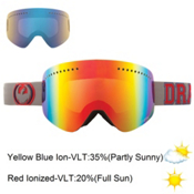 Dragon NFX Goggles, Team Spirit-Red Ion+Yellow Blue, medium