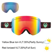 Dragon NFX Goggles, Palm Spring-Red Ion+Yellowl Blue, medium